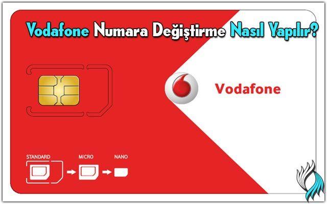 vodafone-numara-değişikliği